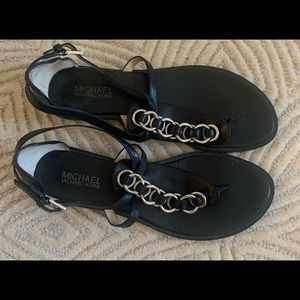 Micheal Kors black flat sandals